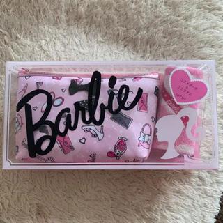 Barbie - 新品☆Barbie バービー コスメポーチ タオルハンカチ セット