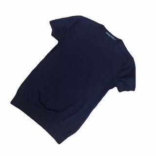 ラルフローレン(Ralph Lauren)のラルフローレン ネイビーの半袖ニット(カットソー(半袖/袖なし))