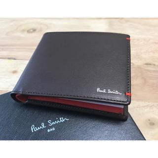 ポールスミス Paul Smith 新品未使用 チョコ 折り財布