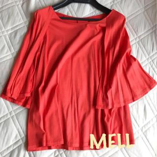 ジユウク(自由区)の鮮やかなオレンジ色が可愛いプルオーバー(シャツ/ブラウス(長袖/七分))