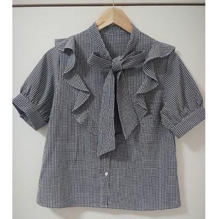 アルシーヴ(archives)のフリルボウタイブラウス(シャツ/ブラウス(半袖/袖なし))