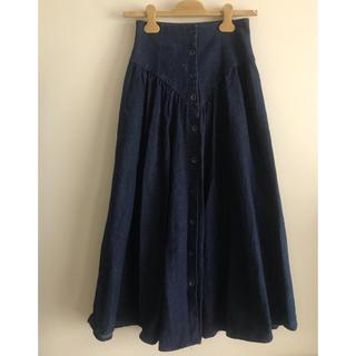ロキエ(Lochie)のアメリカ製 ビンテージ デニムマキシスカート (ロングスカート)