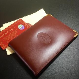Cartier - 【未使用 正規品】カルティエ マネークリップ レザー ボルドー 札入れ 財布