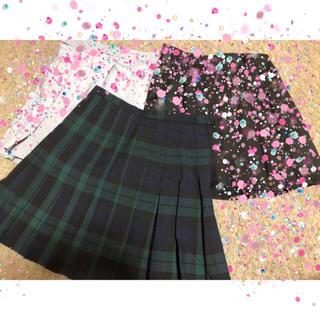 Chip様専用 緑チェックプリーツスカート(ミニスカート)