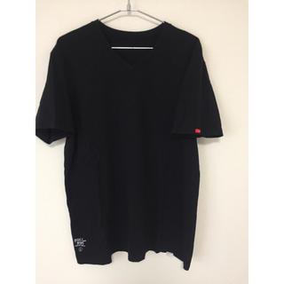 ダブルタップス(W)taps)のSKIVVIES Vネック 黒 Lサイズ WTAPS(Tシャツ/カットソー(半袖/袖なし))