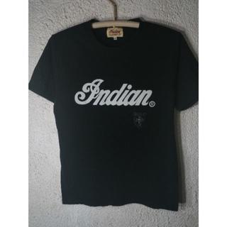 インディアン(Indian)の4595 インディアン モトサイクル フエルト ロゴ プリント ワッペン(Tシャツ/カットソー(半袖/袖なし))