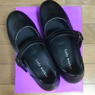 アシックス(asics)のレディーワーカーストラップシューズ(ローファー/革靴)