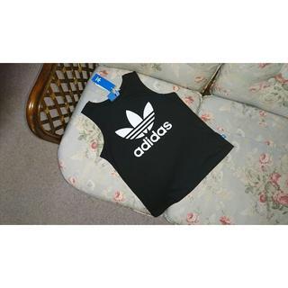 アディダス(adidas)の新品☆アディダスオリジナルス adidas  トレフォイル タンクトップ 黒 S(タンクトップ)