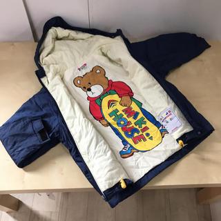 ミキハウス(mikihouse)のレトロ ミキハウス 薄手 中綿 ジャンパー ブルゾン 100(ジャケット/上着)