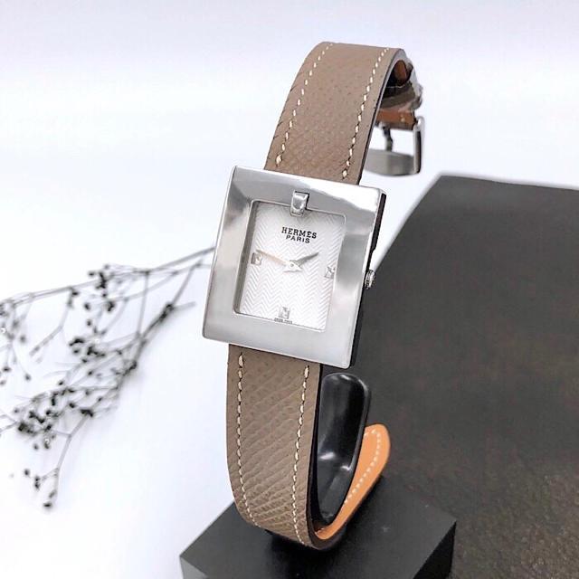 Hermes - 【仕上済/ベルトニ色付】エルメス スクエア シルバー レディース 腕時計の通販 by LMC|エルメスならラクマ