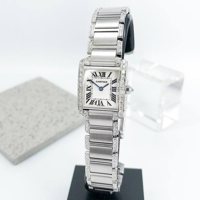 Cartier - 【保証書付】カルティエ フランセーズSM シルバー ダイヤ レディース 腕時計の通販 by LMC|カルティエならラクマ