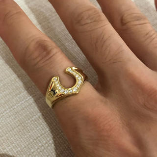 テンダーロイン(TENDERLOIN)の【最終価格‼︎】K18YG 馬蹄ホースシュー ダイヤモンドリング 18号(リング(指輪))