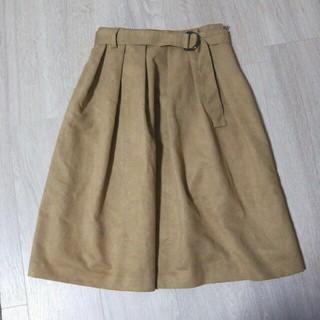 ミューズ(Mew's)のミューズ スエードスカート(ひざ丈スカート)