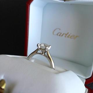 カルティエ(Cartier)のカルティエ プラチナ ダイヤモンド リング 9号  ソリテール(リング(指輪))