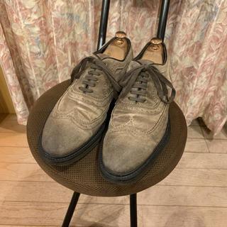 DOUCAL'S デュカルス ドレスシューズ 革靴 スエード ブローグ(ドレス/ビジネス)