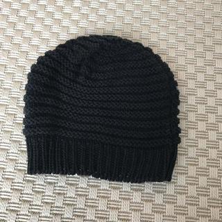 アニエスベー(agnes b.)のアニエスベー ニット帽 ブラック(ニット帽/ビーニー)