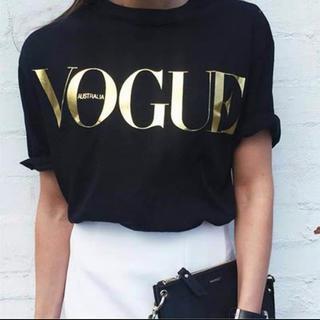 レディース 半袖Tシャツ  VOGUE  サイズXL 黒 新品未使用(Tシャツ(半袖/袖なし))