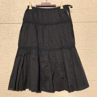 ニジュウサンク(23区)の23区 スカート 黒 ブラック 32(ひざ丈スカート)