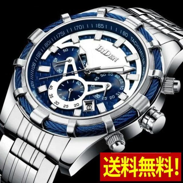 ★新品★ クロノグラフ腕時計 海外モデル 168の通販 by まちのとけいやさん shop|ラクマ