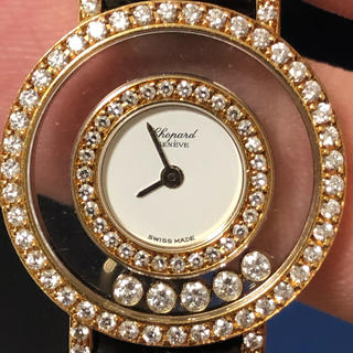 ショパール(Chopard)のショパール ハッピーダイヤモンド K18YG イエローゴールド 20/6061(腕時計)