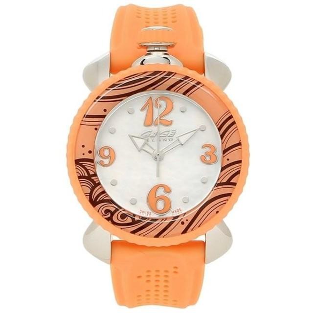GaGa MILANO - GAGA MILANO ガガミラノ 腕時計 オレンジ LADY SPORTSの通販 by  miro's shop|ガガミラノならラクマ