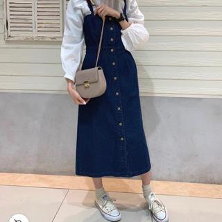 ローリーズファーム(LOWRYS FARM)のローリーズファーム デニムサロペットスカート(サロペット/オーバーオール)