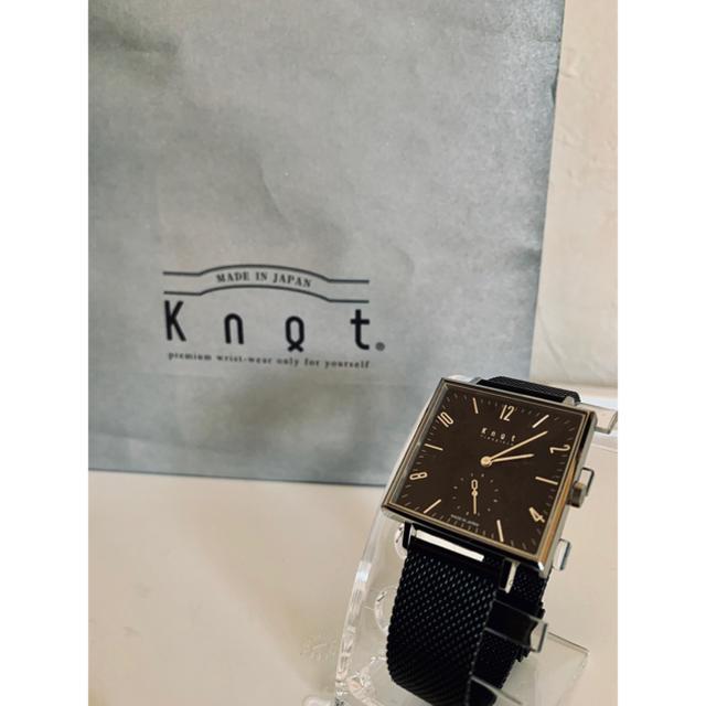 KNOT - 【R様専用】Knot(ノット) 腕時計 スクエア SQ-32SVBKの通販 by K's shop|ノットならラクマ