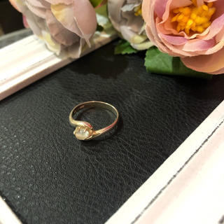 【vintage】千本透かし リング  シルバー925 ストーン レディース(リング(指輪))