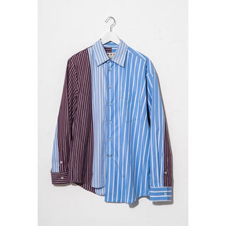 マルニ(Marni)の2018SS MARNIアシンメトリーシャツ サイズ48(シャツ)