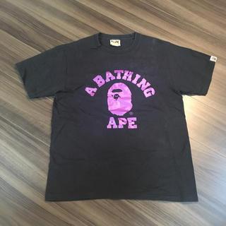 アベイシングエイプ(A BATHING APE)のAPE Tシャツ ブラック メンズ(Tシャツ/カットソー(半袖/袖なし))