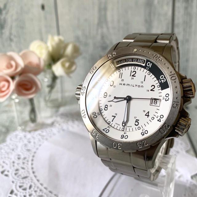 Hamilton - 【希少】HAMILTON ハミルトン 腕時計 H745510 カーキ シルバーの通販 by soga's shop|ハミルトンならラクマ