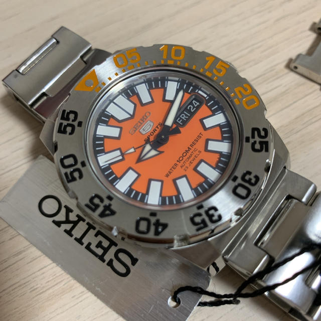SEIKO - 【たっくん5342様専用】seiko 5 sports  7S36  オレンジの通販 by watchlover|セイコーならラクマ