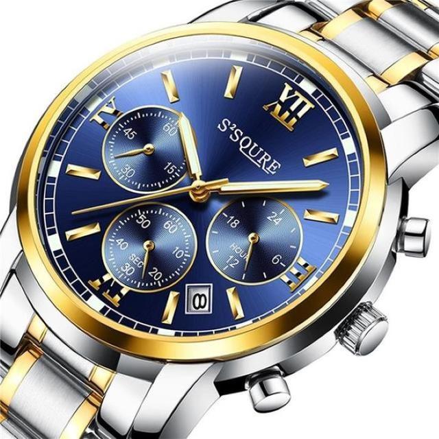 【人気★爆発】腕時計 クォーツ メンズ 夜光 クロノグラフの通販 by ハーマン's shop|ラクマ