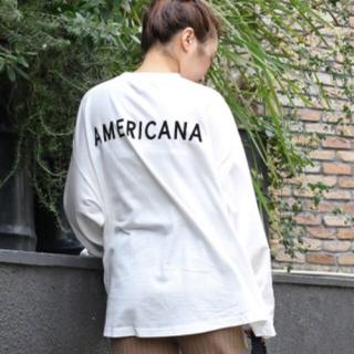 アメリカーナ(AMERICANA)のアメリカーナ サイドジップ ロンT  AMERICANA(Tシャツ(長袖/七分))