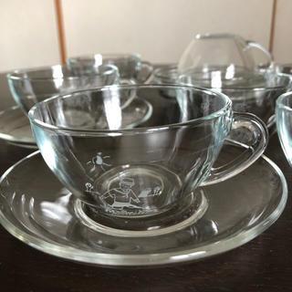 フェリシモ(FELISSIMO)のガラスのカップ&ソーサ   (グラス/カップ)