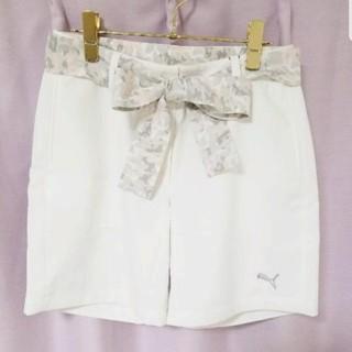 プーマ(PUMA)の[新品] プーマ ゴルフウェア ズボン パンツ 迷彩 フラワー ピンク ホワイト(ショートパンツ)