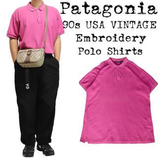 パタゴニア(patagonia)の希少★90s VINTAGE★Patagonia★パタゴニア★ポロシャツ★ピンク(ポロシャツ)