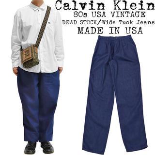 カルバンクライン(Calvin Klein)の美品★Calvin Klein★カルバンクライン★ワイド デニムパンツ★USA製(デニム/ジーンズ)