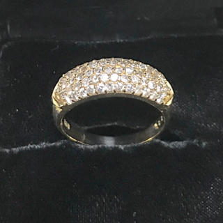 ダイヤモンド  パヴェリング18金 1ct. 21号(リング(指輪))
