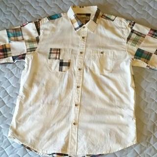 しまむら - しまむら 半袖シャツ チェックパッチワーク (日本LLサイズ)