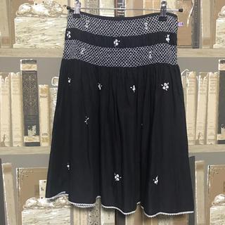 ツモリチサト(TSUMORI CHISATO)のツモリチサト★お花刺繍のコットンスカート(ひざ丈スカート)