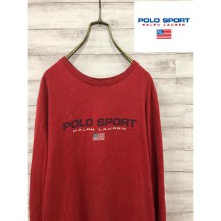ポロラルフローレン(POLO RALPH LAUREN)の90s Polo Sport ラルフローレン ポロスポーツ 長袖Tシャツ  赤(Tシャツ/カットソー(七分/長袖))