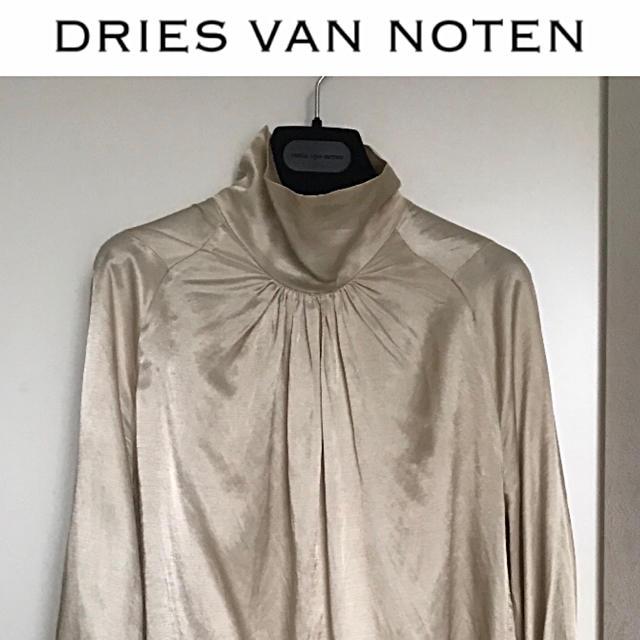 DRIES VAN NOTEN(ドリスヴァンノッテン)の16aw ドリスヴァンノッテン スタンドカラー ハイネックブラウス レディースのトップス(シャツ/ブラウス(長袖/七分))の商品写真