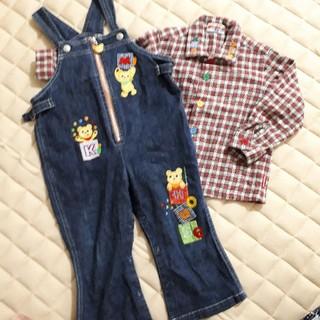 ミキハウス(mikihouse)のオーバーオール 90 長袖シャツ(Tシャツ/カットソー)