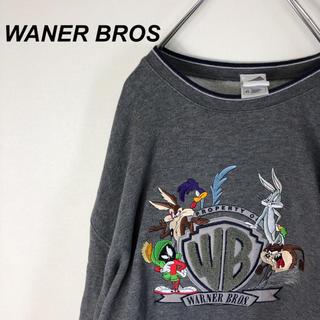 Disney - 90s WARNER BROS ビッグシルエット スウェット トレーナー グレー