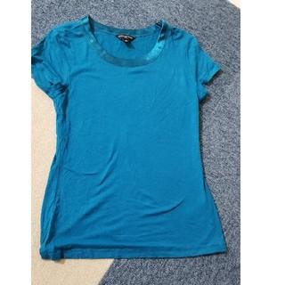 バナナリパブリック(Banana Republic)のバナナ リパブリック Tシャツ ブルー 襟サテン XS(Tシャツ/カットソー(半袖/袖なし))