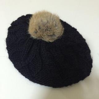 アースミュージックアンドエコロジー(earth music & ecology)のニットベレー帽(ハンチング/ベレー帽)