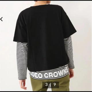 ロデオクラウンズワイドボウル(RODEO CROWNS WIDE BOWL)のレイヤード ボーダー Tシャツ セット(カットソー(長袖/七分))