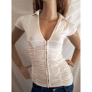 アナップラティーナ(ANAP Latina)のANAP USA 襟 サテン シャーリング Tシャツ(Tシャツ(半袖/袖なし))