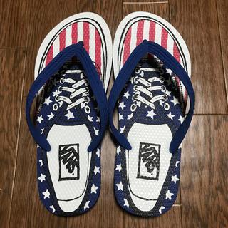VANS - 新品未使用‼︎レア‼︎ Vansアメリカ国旗柄ビーサン!?